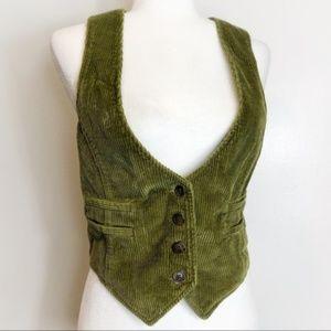 Old Navy Green Plus Size XXL Corduroy Vest